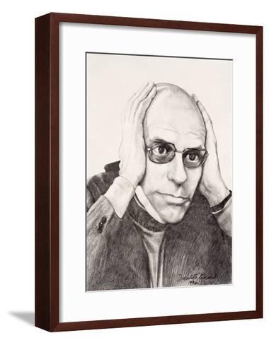Michel Foucault, 1994-Dinah Roe Kendall-Framed Art Print