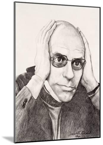 Michel Foucault, 1994-Dinah Roe Kendall-Mounted Giclee Print