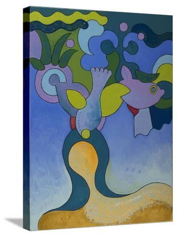 The Little Mermaid in Polluted Waters, 2007-Jan Groneberg-Stretched Canvas Print