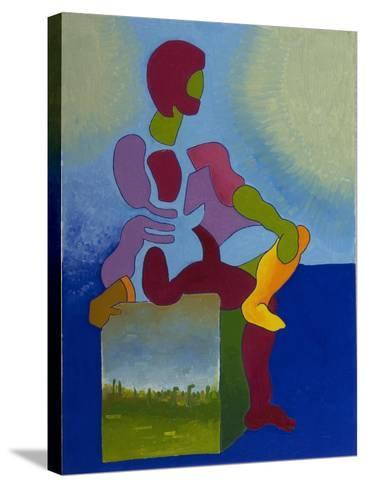 Death Waiting Patiently, 2008-Jan Groneberg-Stretched Canvas Print