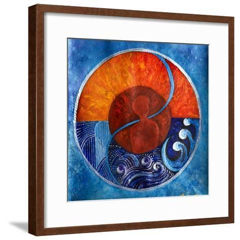Leo-Aquarius, 2009-Sabira Manek-Framed Art Print