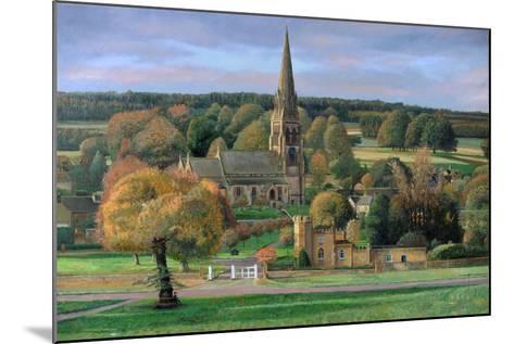 Edensor, Chatsworth Park, Derbyshire, 2009-Trevor Neal-Mounted Giclee Print