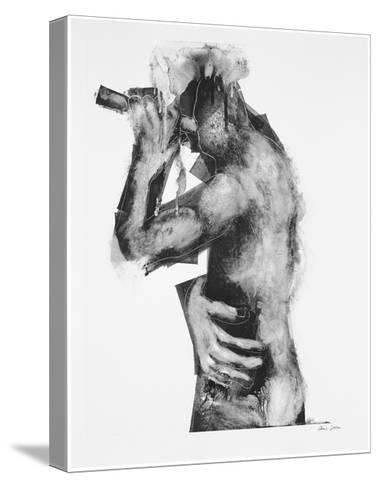 The Flute Player-Chris Gollon-Stretched Canvas Print