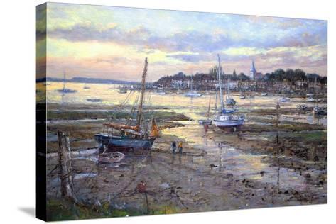 Evening Light- Bosham, 2011-John Sutton-Stretched Canvas Print
