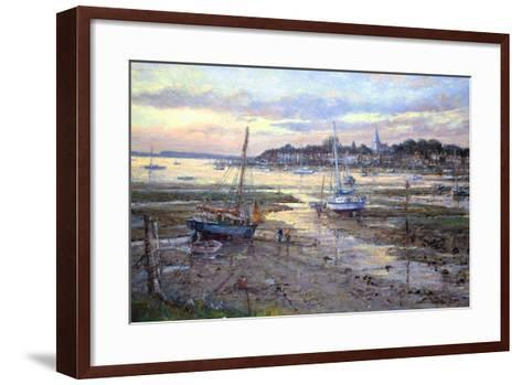 Evening Light- Bosham, 2011-John Sutton-Framed Art Print