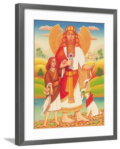Tobias and the Angel, 2009-Frances Broomfield-Framed Art Print