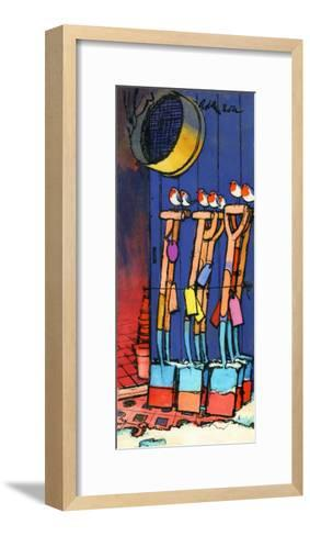 Robins and Spades, 1970s-George Adamson-Framed Art Print