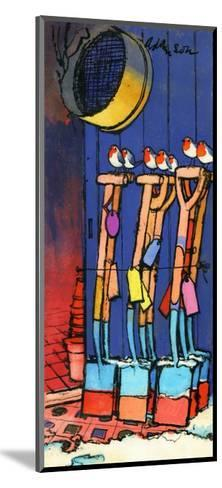 Robins and Spades, 1970s-George Adamson-Mounted Giclee Print