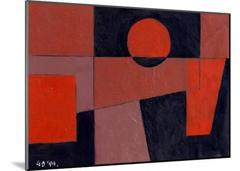 Related Reds with Black, 1999-George Dannatt-Mounted Giclee Print