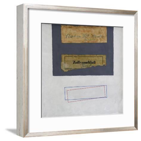 CCC (Customs Clearance Collage)-George Dannatt-Framed Art Print