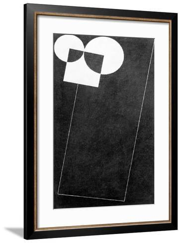 Slate, with Square and Two Cirles, 2004-George Dannatt-Framed Art Print