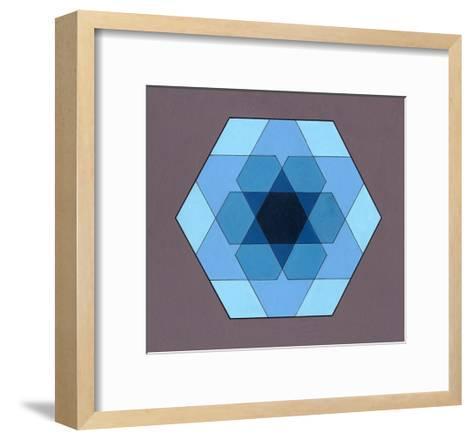 Overlaying Hexagons, 2009-Peter McClure-Framed Art Print