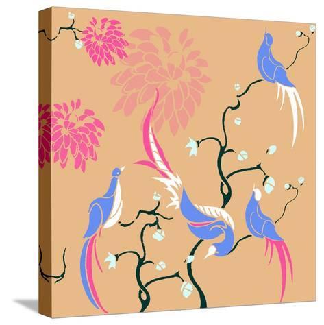 Blossom Birds-Anna Platts-Stretched Canvas Print