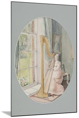 A Young Woman with a Harp, 2009-Caroline Hervey-Bathurst-Mounted Giclee Print