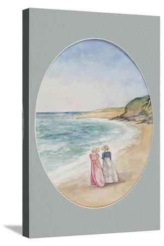 Anne and Henrietta Stroll Down to the Sea, 2006-Caroline Hervey-Bathurst-Stretched Canvas Print