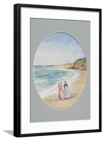 Anne and Henrietta Stroll Down to the Sea, 2006-Caroline Hervey-Bathurst-Framed Art Print
