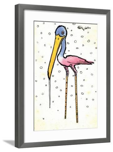 Stork with Calibrated Shanks, 1970s-George Adamson-Framed Art Print