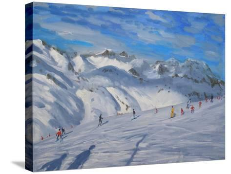 Mountain Tops, Tignes, 2009-Andrew Macara-Stretched Canvas Print