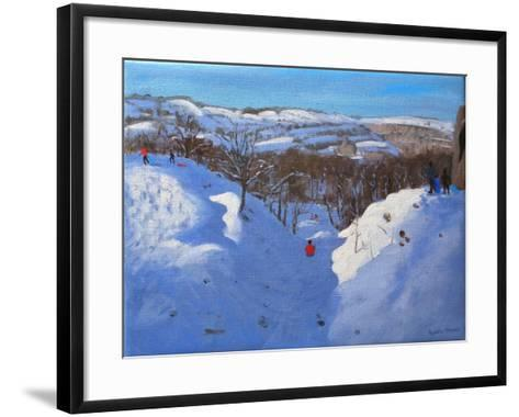 Gully, Black Rocks, Derbyshire, 2009-Andrew Macara-Framed Art Print