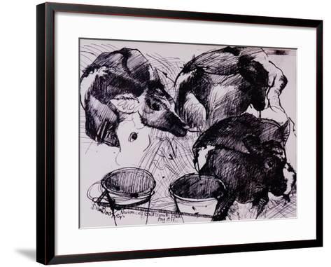 Calves, Damp, Newborn, 1978-Brenda Brin Booker-Framed Art Print