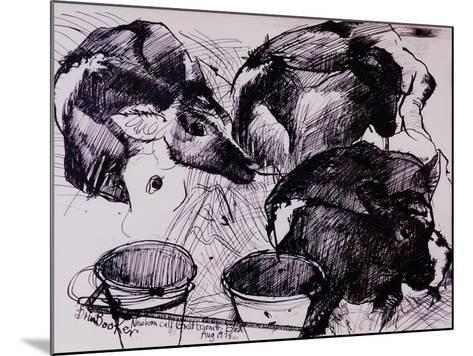 Calves, Damp, Newborn, 1978-Brenda Brin Booker-Mounted Giclee Print