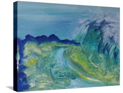 Blue River Landscape I, 1988-Brenda Brin Booker-Stretched Canvas Print