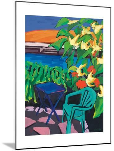 Turquoise Chair and Geranium, 2010-Sarah Gillard-Mounted Giclee Print
