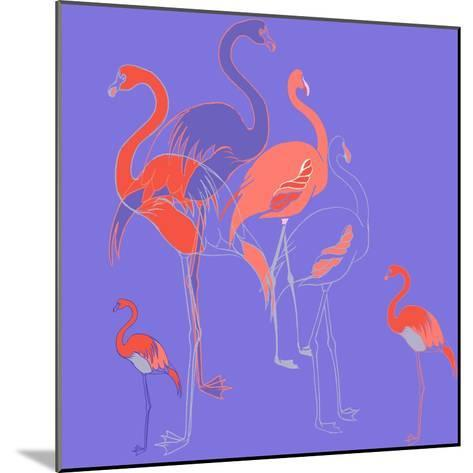 Flamingoes-Anna Platts-Mounted Giclee Print