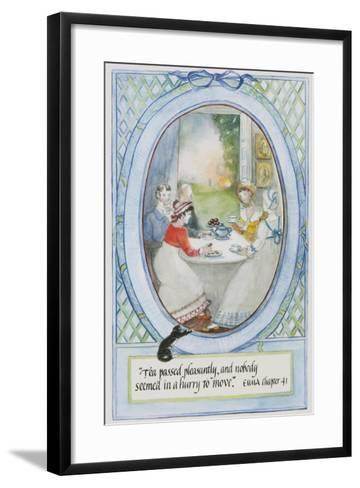 'Tea Passed Pleasantly, and Nobody Seemed in a Hurry to Move', 2010-Caroline Hervey-Bathurst-Framed Art Print