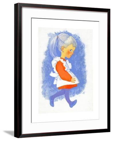 Little Girl with Apron, 1970s-George Adamson-Framed Art Print