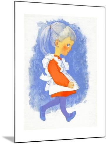Little Girl with Apron, 1970s-George Adamson-Mounted Giclee Print