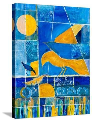 Blue Horizons-Margaret Coxall-Stretched Canvas Print