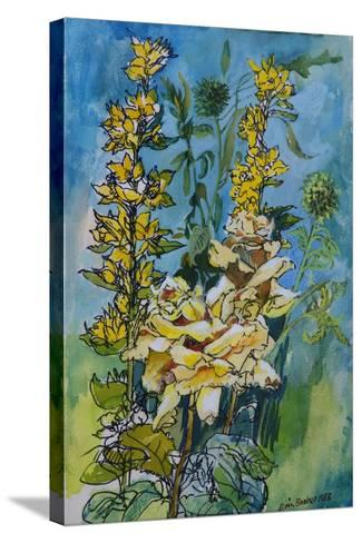 Yellow Rose and Loosestrife, 1983-Brenda Brin Booker-Stretched Canvas Print