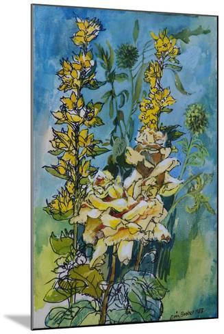 Yellow Rose and Loosestrife, 1983-Brenda Brin Booker-Mounted Giclee Print