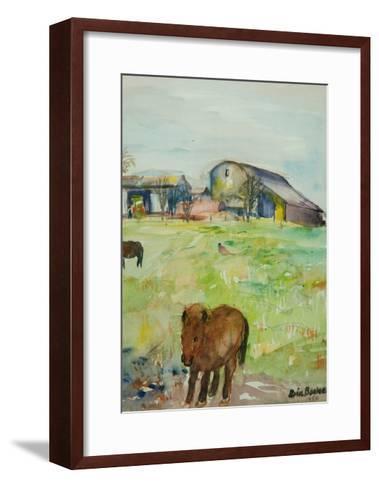 Pony in the Farm Meadow, East Green, 1980-Brenda Brin Booker-Framed Art Print