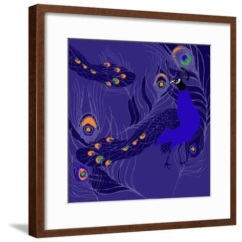 Peacock-Anna Platts-Framed Art Print