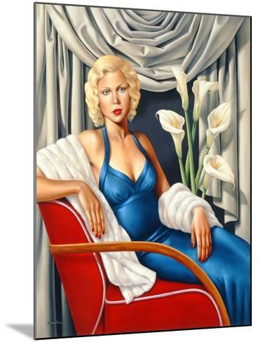 Woman in Sapphire Blue Dress-Catherine Abel-Mounted Giclee Print
