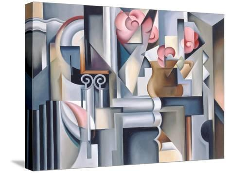 Still Life with Brown Jug-Catherine Abel-Stretched Canvas Print