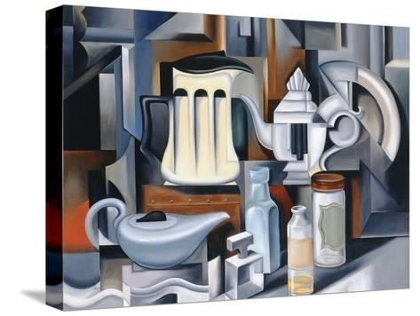 Still Life with Teapots-Catherine Abel-Stretched Canvas Print