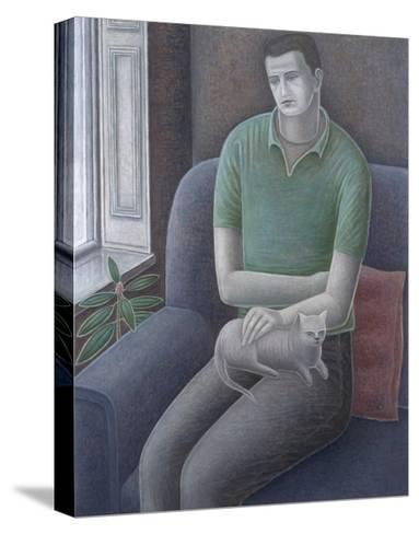 Young Man with Cat, 2008-Ruth Addinall-Stretched Canvas Print