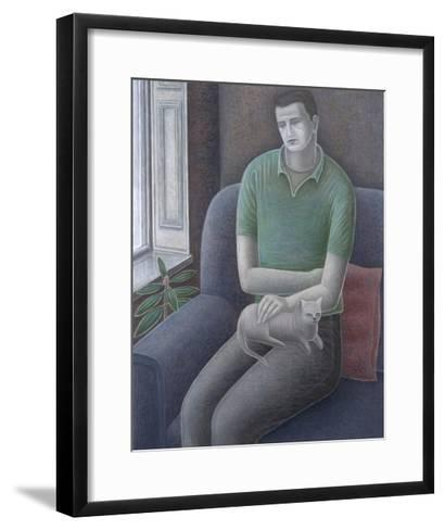 Young Man with Cat, 2008-Ruth Addinall-Framed Art Print