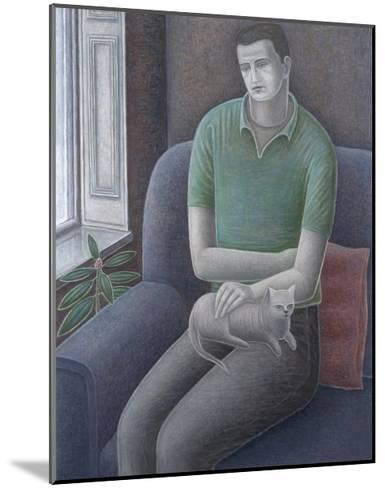 Young Man with Cat, 2008-Ruth Addinall-Mounted Giclee Print