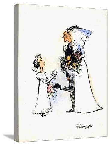 Wedding Horse-Shoe Heel-George Adamson-Stretched Canvas Print