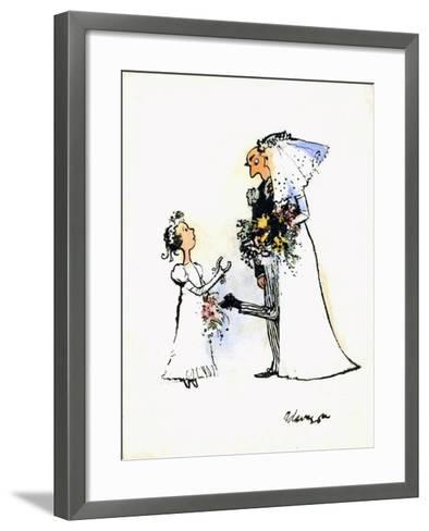 Wedding Horse-Shoe Heel-George Adamson-Framed Art Print