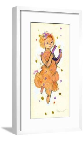 Girl Bringing Luck and Success-George Adamson-Framed Art Print