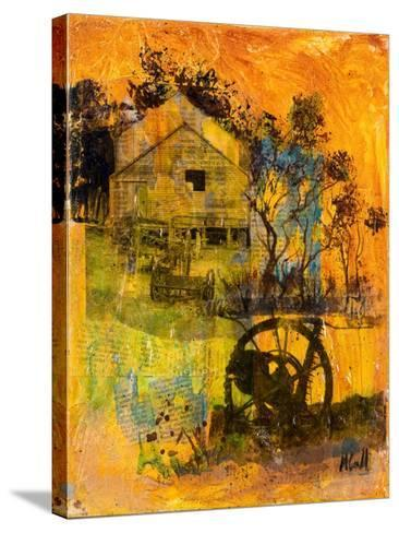 Shearing Shed-Margaret Coxall-Stretched Canvas Print