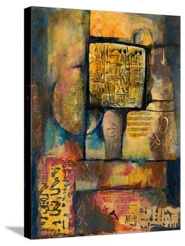 Ancient Scripts-Margaret Coxall-Stretched Canvas Print