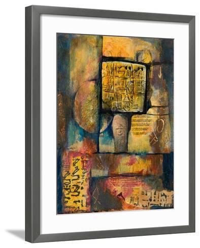 Ancient Scripts-Margaret Coxall-Framed Art Print