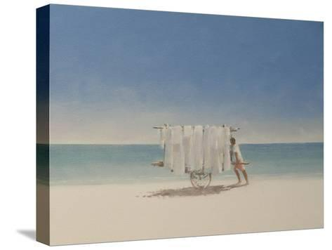 Cuba Beach Seller, 2010-Lincoln Seligman-Stretched Canvas Print