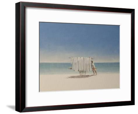 Cuba Beach Seller, 2010-Lincoln Seligman-Framed Art Print
